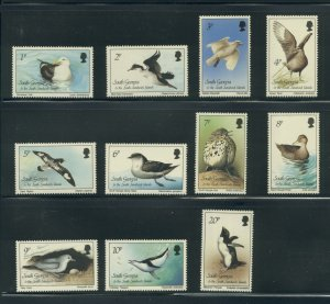 South Georgia 109-19  MNH short set cgs
