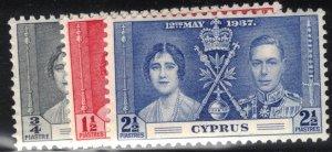 Cyprus Scott #140-42 MLH Complete Set
