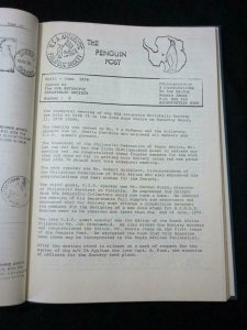 THE PENGUIN POST 1-9 JAN 1979-MARCH 1981 BOUND -RSA ANTARCTIC PHILATELIC SOCIETY