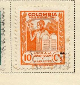Colombia Air Post 1949 Early Issue Fine Used 10c. 173217
