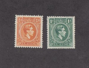 JAMAICA (SP50) # 148-149 VF-MNH  1/2-1d  1951 KING GEORGE VI /TYPES OF 1938