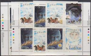 Canada USC #1337a MINT MS Imprint Blocks VF-NH Cat. $20. 1991 Folklore