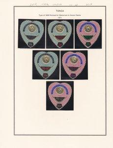 Tonga # 263-268, C83-86, CO37-40, Queen Salote Memorium, NH, 1/2 Cat.