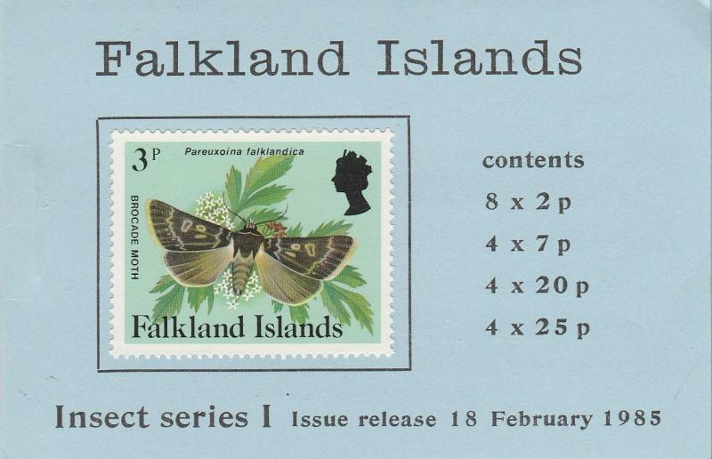 Falkland Is #388, 393, 397-8 Complete Booklet  CV $39.20  (A3506)