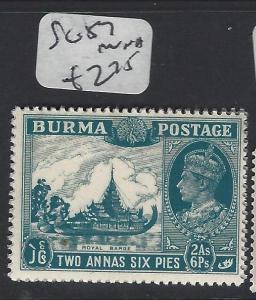 BURMA (P0304B)    KGVI 2A 6P  SG 57  MOG