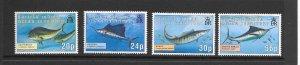 FISH - BRITISH INDIAN OCEAN TERRITORY #168-71  GAME FISH  MNH