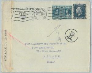 77539 - GREECE  - Postal History -  COVER  to  ITALY  1940 ---  CENSURE TAPE