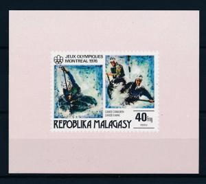 [55774] Madagascar 1976 Olympic games Montreal Canoeing MNH Sheet