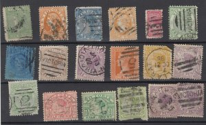Victoria State QV Collection Of 18 Fine Used JK6320