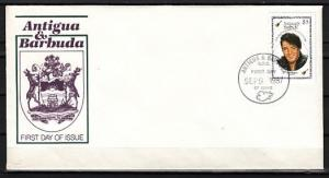 Antigua, Scott cat. 1047. Elvis Presley value from set. First day cover.