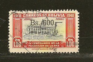 Bolivia C190 Surcharged Airmail Used