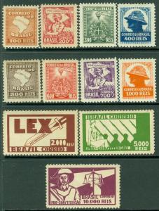 EDW1949SELL : BRAZIL 1932 Scott #364-74 Complete set. VF, Mint OG. Catalog $98.