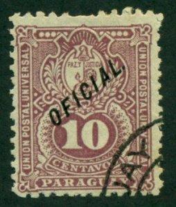 Paraguay 1892 #O37 U SCV (2018) = $0.55