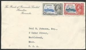 BERMUDA 1935 cover to USA, Jubilee franking................................53109