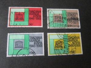 Kenya Uganda Tanganyika 1966 Sc 168-71 set FU