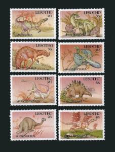 Lesotho - 1992 Dinosaurs of The World  8 Stamp Set 12E-006