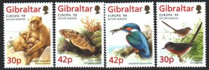 Gibraltar. 1999. 852-55. Fauna, fish, birds, europe-sept. MNH.