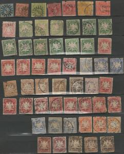 Bavaria Germany stamp collection *