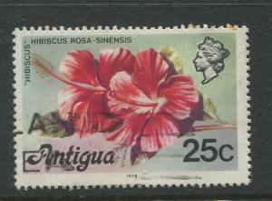 Antigua #415a Used 1976 Single 25c Stamp