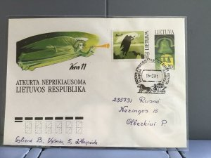 Lithuania 1991 stamps cover R29362