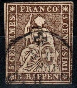 Switzerland #36 F-VF Used CV $30.00  (X9747)