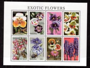 Tanzania 1684 Flowers Souvenir Sheet MNH VF