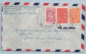 GOLDPATH: Saudi Arabia cover,  1957, To Ester Park CO USA, CBHW_07_03