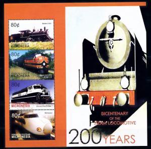 [63485] Micronesia 2004 Railway Train Eisenbahn Chemin de Fer Sheet MNH