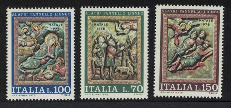 Italy Christmas Alatri Cathedral Carvings 3v SG#1462-1464