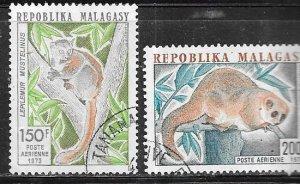 Malagasy Republic #C117-C118    (U) CV $1.40