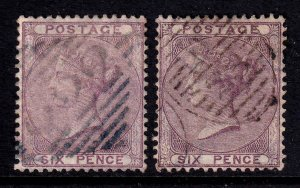 GREAT BRITAIN SC 27a NICES CANCELS x2 F/VF SOUND $280 SCV