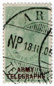 (I.B-BOB) QV Telegraphs : Army Telegraphs 2/6d (Novals Pont - Boer War)