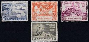 VIRGIN ISLANDS     1949  UPU  SET  MH