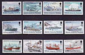 British Antarctic Territory-Sc#202-13-unused NH set-Ships-1993-