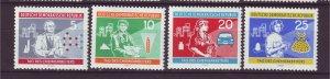 J24168 JLstamps 1960 germany DDR set mh #525-8 designs