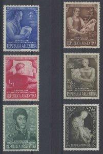 ARGENTINA 1950-51 LA PIETA, MICHELANGELO Sc CB1-CB6 MNH VF SCV$45.50