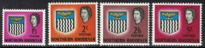NORTHERN RHODESIA 1963 QEII ARMS 1/3 TO 5/- MNH **