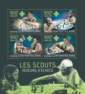 CENTRAFRICAINE 2013 SHEET SCOUTS PLAYING CHESS