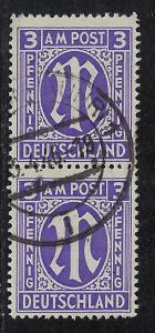 Germany AM Post Scott # 3N2b, used, pair