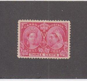 CANADA (MK6710) # 53 VF-MH  2cts 1897 QV DIAMOND JUBILEE /BRIGHT ROSE CV $40