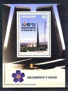 URUGUAY - ARMENIA 2015 MEMORIAL ARMENIAN GENOCIDE SOUVENIR SHEET MNH 105 MNH