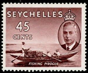 SEYCHELLES SG166, 45c purple-brown, NH MINT.