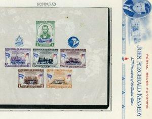 HONDURAS  JOHN F. KENNEDY MEMORIAL SOUVENIR SHEET  MINT NEVER HINGED