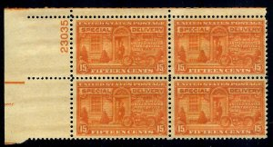 PLATE BLOCK - #E16 15c Special Delivery.....VF og NH