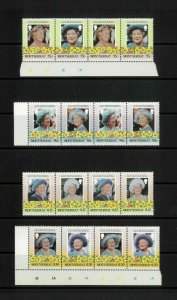 Wholesale Lot Queen Mother 85th Birthday. Montserrat 558-61 x 15. Cat.48.75