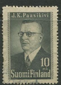 Finland - Scott 263 - Pres. Juho K. Passikivi -1947- Used - Single 10m stamp