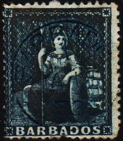 Barbados. 1860 (1d) S.G.24 Fine Used