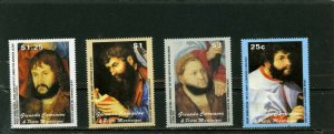 GRENADA GRENADINES 2003 PAINTINGS BY LUCAS CRANACH SET OF 4 STAMPS MNH