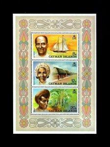 CAYMAN IS - 1974 - SHIP - WEAVER - FARMER - SEA CAPTAIN - MINT - MNH S/SHEET!