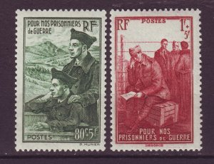 J24602 JLstamps 1941 france set set mh #b108-9 prisioners of war